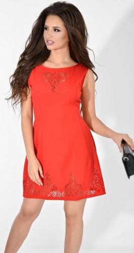 Платье № 1263N красное (розница 515 грн.)