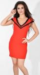 Платье № 3551L красное