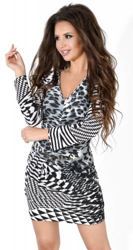 Платье № 632N Лео на черно-белом (розница 490 грн.)