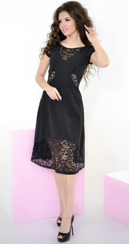 Платье № 3160N черное (розница 650 грн.)