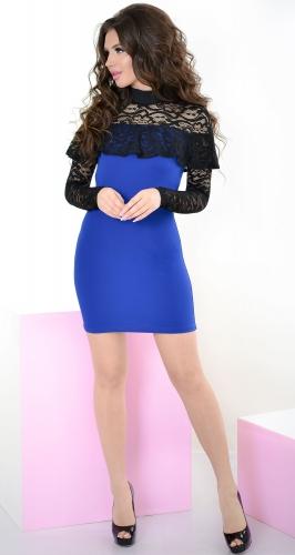 Платье № 32394S электрик и черное (розница 485 грн.)