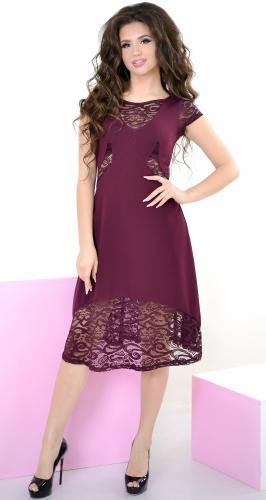 Платье № 3160N марсала