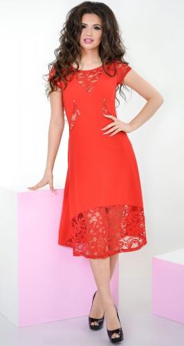 Платье № 3160N красное