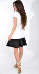 Белое платье с черным низом