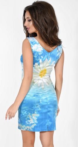 Платье № 820N голубой и ромашка (розница 441 грн.)