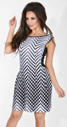 Платье № 1366 черный горох на белом (розница 600 грн.)