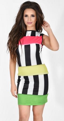 Платье № 1333N цветные полоски (розница 450 грн.)