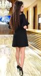 Красивое чёрное платье с кристаллами № 37883