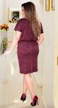 Коктейльное платье цвета марсала с кристаллами