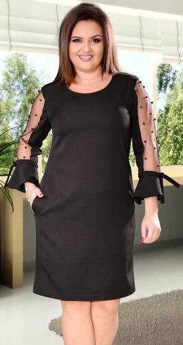 Очаровательное черное коктейльное платье с жемчугом