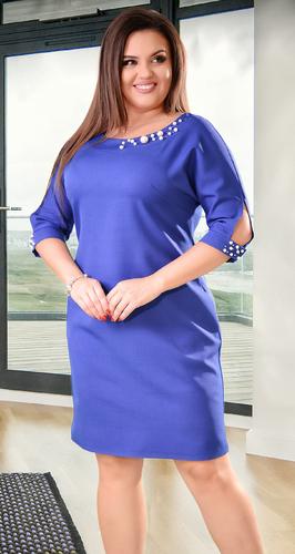 Красивое платье цвета электрик