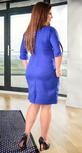 Красивое деловое платье цвета электрик