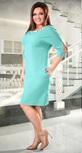 Красивое деловое платье цвета мята