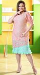 Изысканное платье персиково-мятного цвета