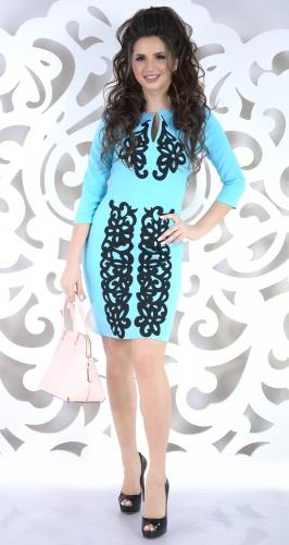 Платье № 1495N голубое