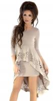 Платье № 30673S бежевое