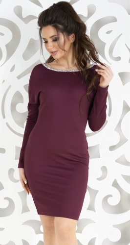 Платье № 17173N марсала