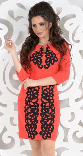 Платье № 1495N красный