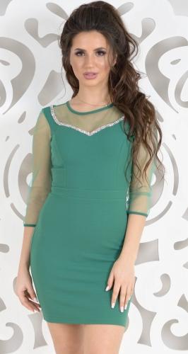 Платье № 3523 зеленый
