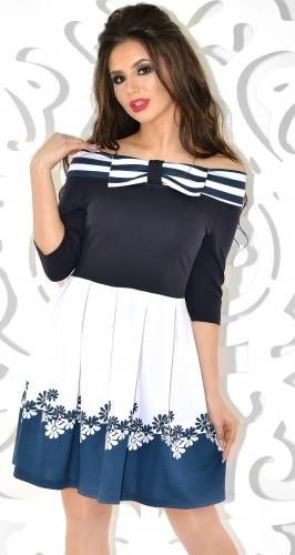 Платье № 3028SN полоски+ромашки (розница 527 грн.)