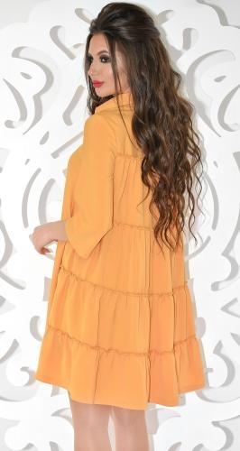 """Платье № 3296S цвет """"горчица"""" (розница 535 грн.)"""