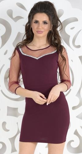 Платье № 3523 марсала