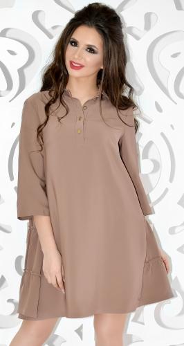 Платье № 3296SN Мокко
