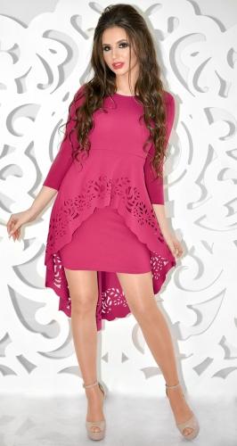 Платье № 30673SN малиновое (розница 610 грн.)