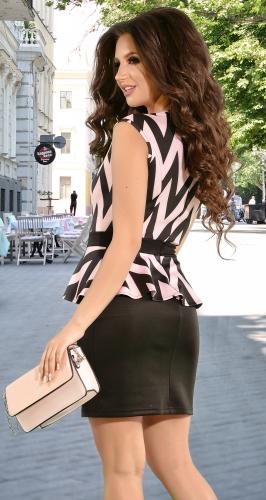 Стильное платье в черно-розовый зигзаг (розница 495 грн./515 грн.)