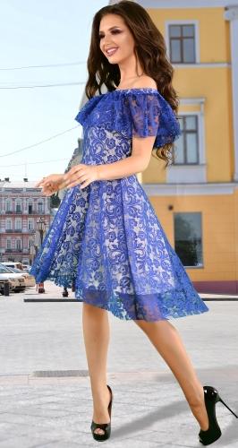 Платье № 36923N электрик (розница 680 грн.)
