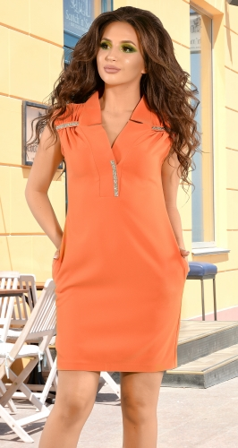 Стильное оранжевое платье (розница 505 грн.)