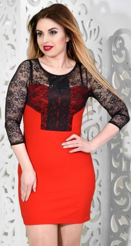 Платье № 35531Nr красно-черное