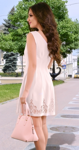 Платье № 1263N пудра (розница 515 грн.)