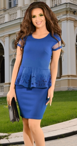 Красивый синий костюм № 16803