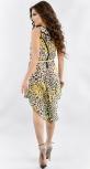 Шифоновое платье-туника с леопардовым принтом