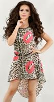 Леопардовое платье-туника изшифона