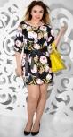 Платье № 30581S цветы на черном (розница 700 грн./720 грн.)