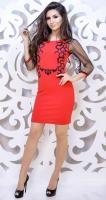 Платье № 3550S красное