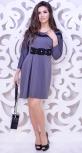 Платье-туника №639N серая (розница 475 грн.)