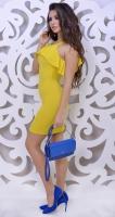 Платье № 3597S горчица
