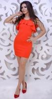 Платье № 3597S оранжевое