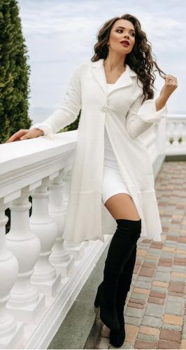 Белый нарядный жакет № 4165