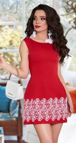 Платье с ажурным украшением № 797