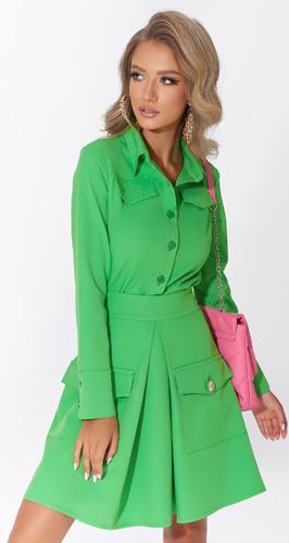 Стильный костюм жакет-юбка