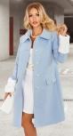 Модное голубое пальто № 4505