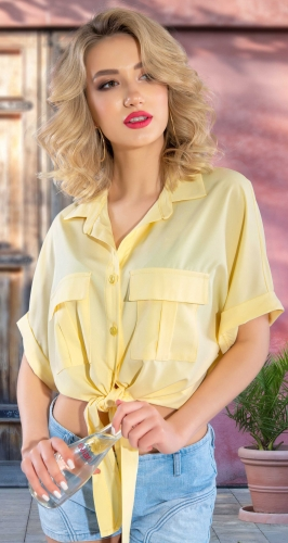 Блузка-рубашка с завязками № 4402