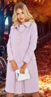 Модное лавандовое пальто № 4505