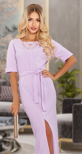 Платье с разрезом впереди № 4549