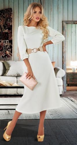 Ванильное платье № 4541
