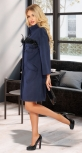 Пальто свободного кроя с декором № 38403